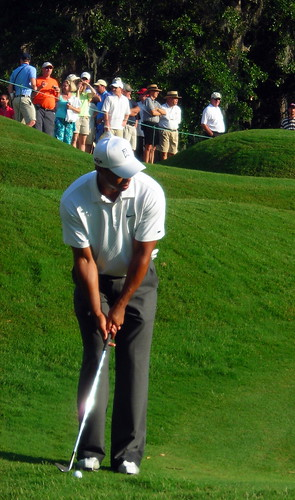 Tiger Woods practicing at TPC Sawgrass