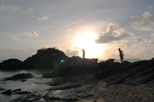 Photographer and Friend, Calaguas Island, Camarines Norte