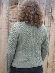 French Aran Cardigan