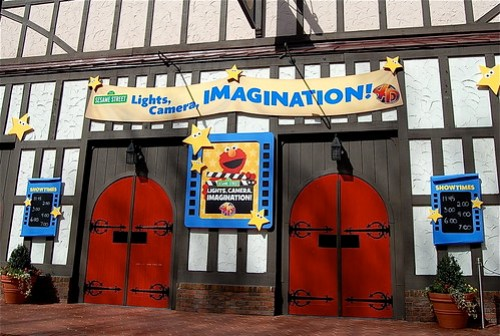entrance to the 4-D movie