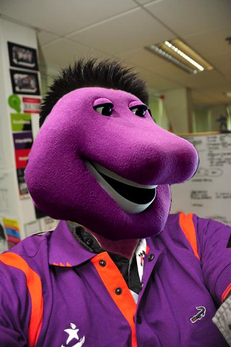 Barney the brinjal