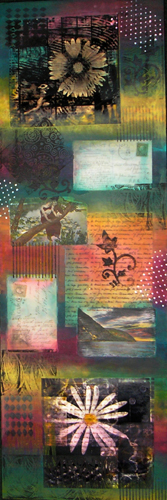 echoes of the past mixed media on canvas (c) 2007, Lynne Medsker