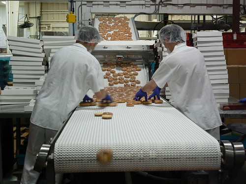 Bakery - Workers Boxing and Falling Donut