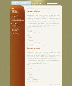 10 template blogger keren gratis - Blogy Decorativo
