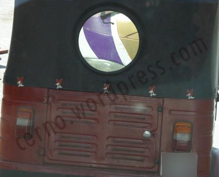 Odd Trishaw rear window