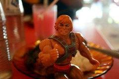 Eating gudeg and susu soda gembira!!! Lots red syrup, more gembira! Heman likes!!!