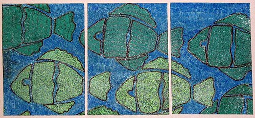 ATC Underwater Triptych