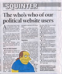 Squinter on political website users
