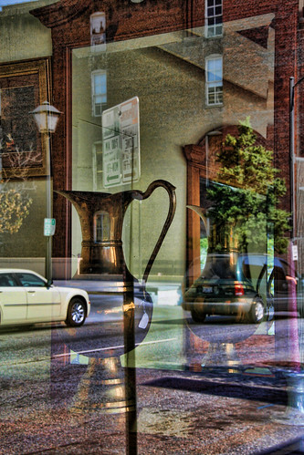 Through the Window #35—Brass Pitcher in the Window