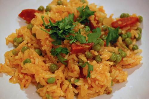 Chorizo and Pea Rice