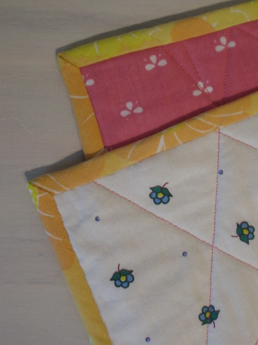 spring baby quilt binding