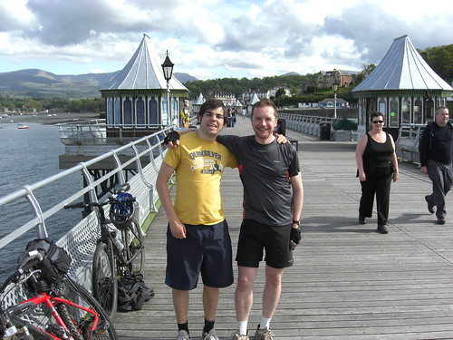 Ralph and Nick reach the end of the pier in Bangor