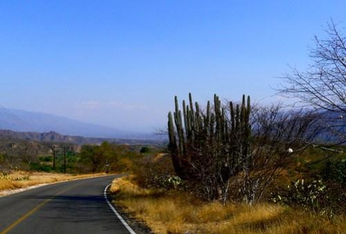 Autostrada nel Deserto messicano