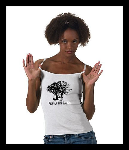 Respect the Earth ©Sandra Miller 2009 , camisole version