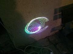 swirly laser patterns