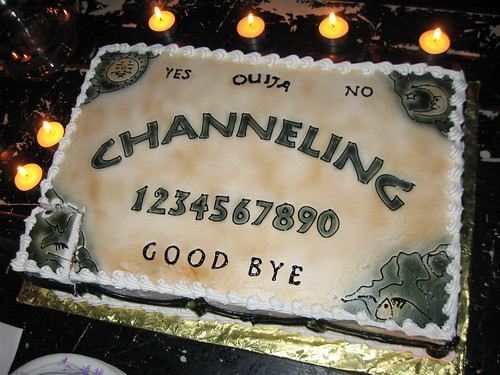 the ouija board cake, in all its glory