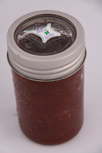 Julies Apple Butter and beautiful Crown Jar
