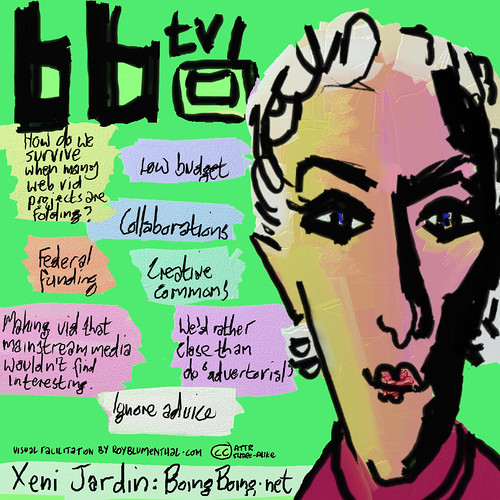 Xeni Jardin -- BoingBoing TV by Roy Blumenthal, part of the Open Video Conference series, Creative Commons licensed