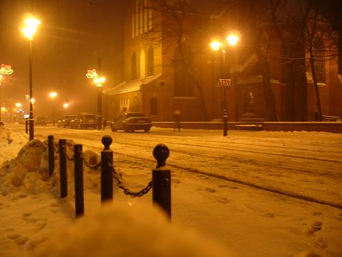Silesian city at winter