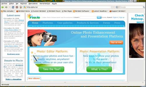 editor online de fotos y presentaciones