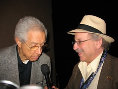 Kenny Burrell on the mic with Jon Hammond for KYOU Radio HammondCast