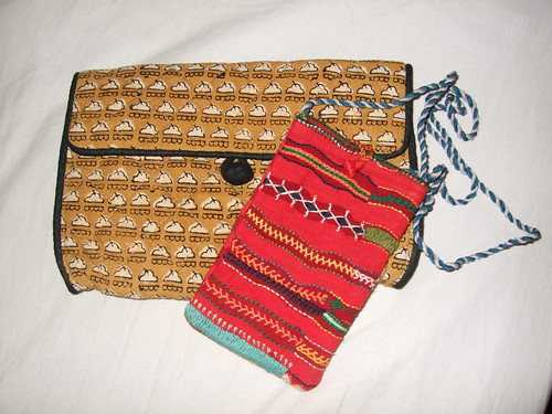 Cloth purse and phone holder
