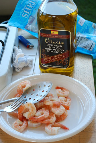 Shrimp and Spanish olive oil
