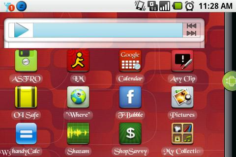 This is what the Music Player widget looked like before.