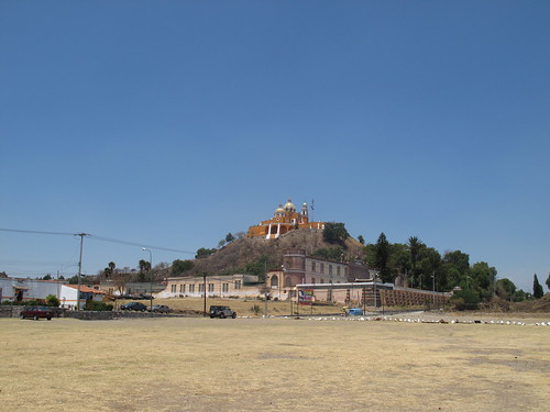 The great pyarmid of Cholula. Cunningly disguised as a hillock.