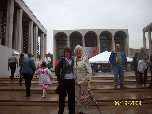 My aunt and I at the Lincoln Center