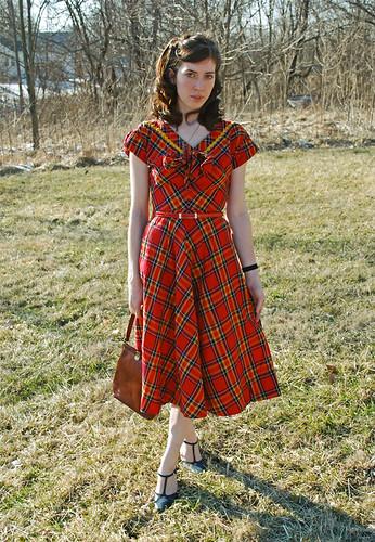 40's Plaid Dress
