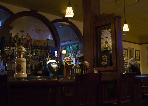 bar at the old triangle pub