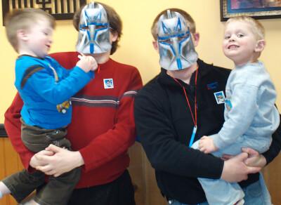 Daddies in Clone Trooper masks just wanna have fun