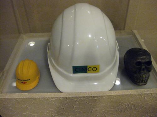 Strange hat display
