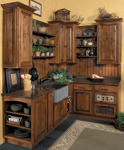 Rustic Kitchen Cabinets - StarMark Cabinetry