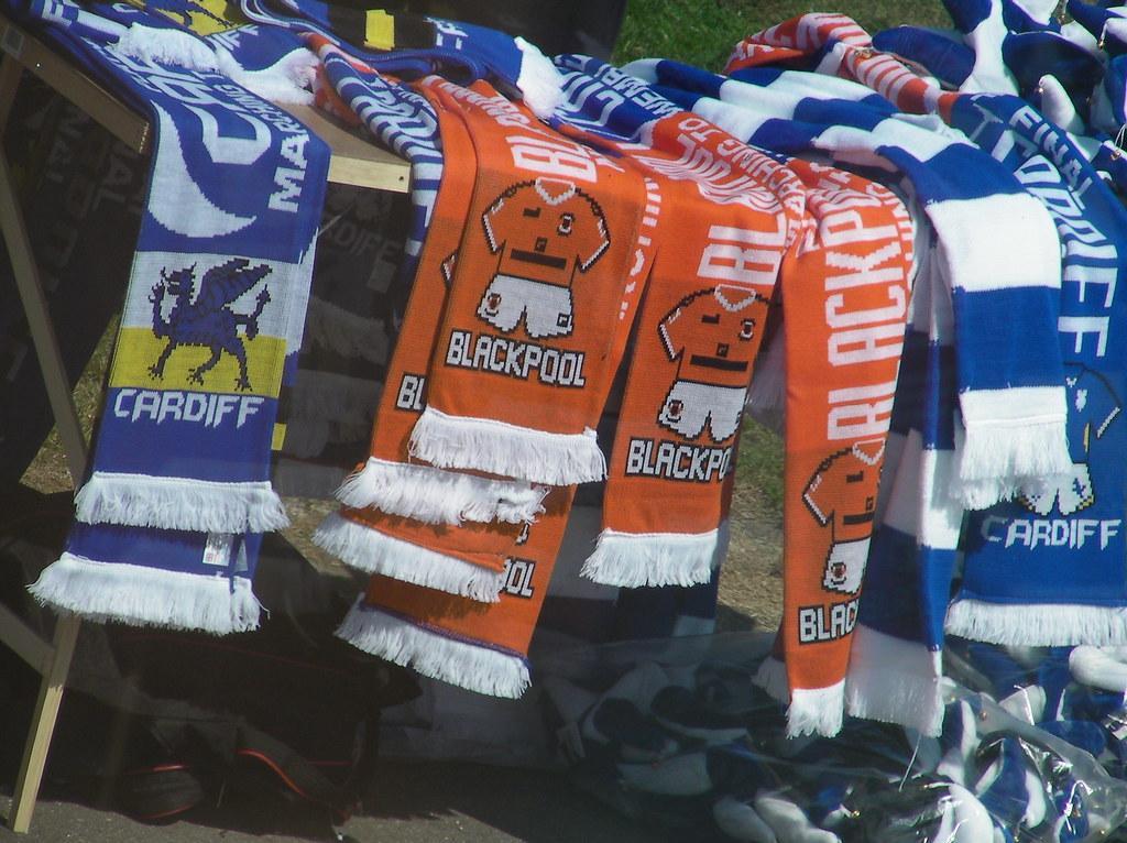 Wembley-Blackpool v Cardiff-Merchandise at Reading Services
