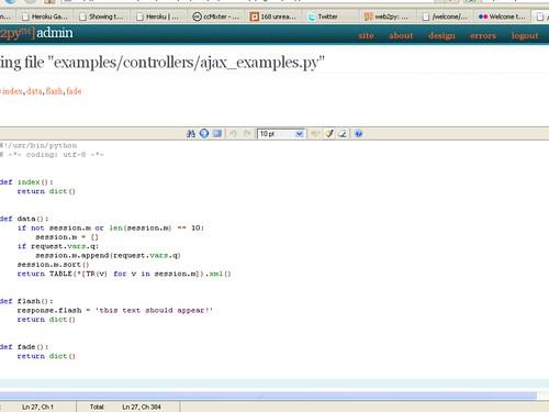 Web2Py AJAX Examples