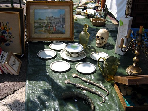 Interesting wares at the flea market in Nice.
