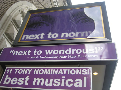 Next To Normal Broadway Marquee