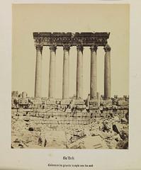 'Ba'lbek, Collones du Grande Temple, vue du su...