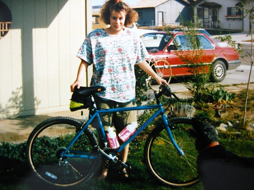 Kristy with 1990 Specialized Rockhopper