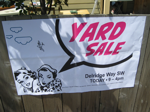 Swanky sale sign