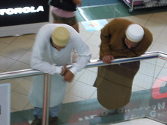Muslim guys, Sim Lim shopping center, Singapore