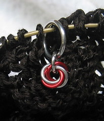 Chainmaille stitch markers!