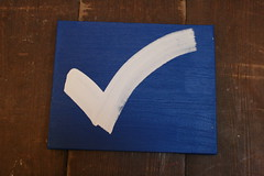 White Check Mark on Blue by Kylemac on Flickr