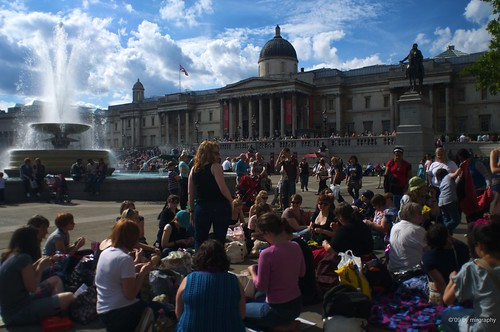 Knitting at Trafalgar Square