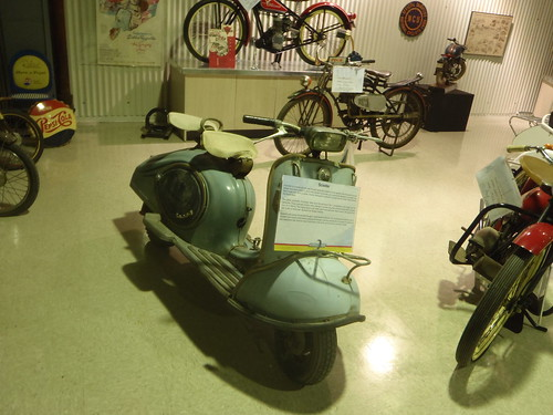 There are actual motorcycles in the museum, but I'm a scooterist at heart
