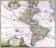Antique map of America