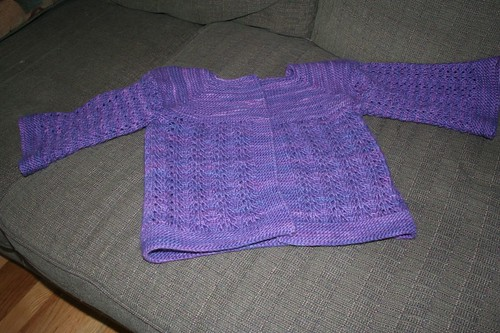 February Lady Sweater Preblocking