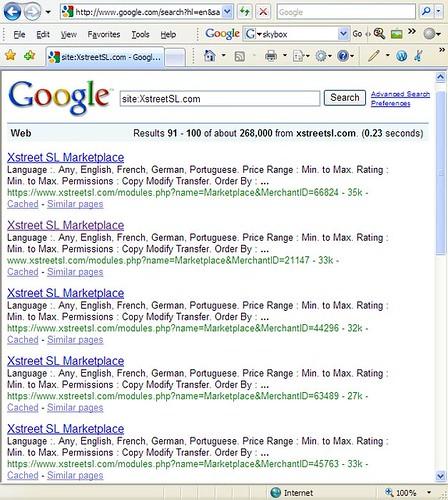 Google Search Xstreet